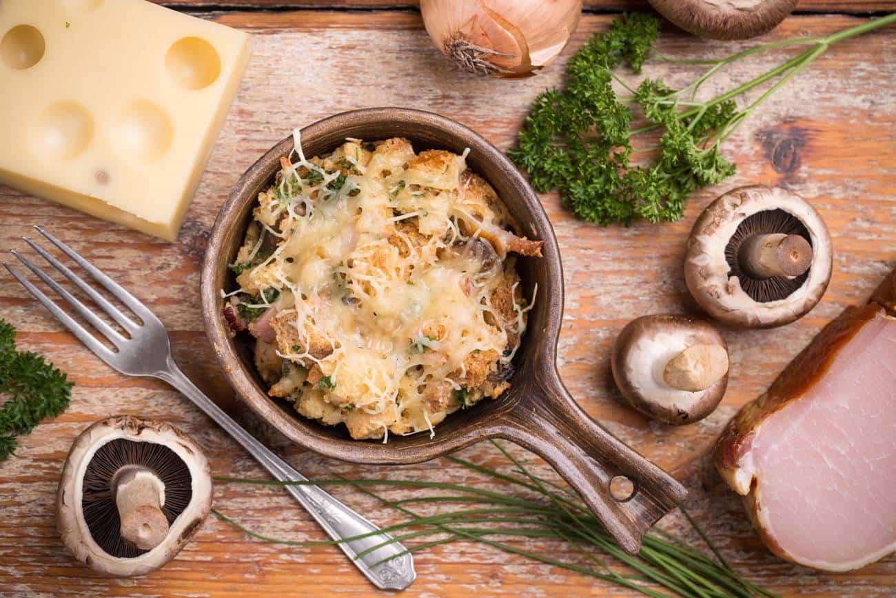 Receta de soufflee de jamón y queso