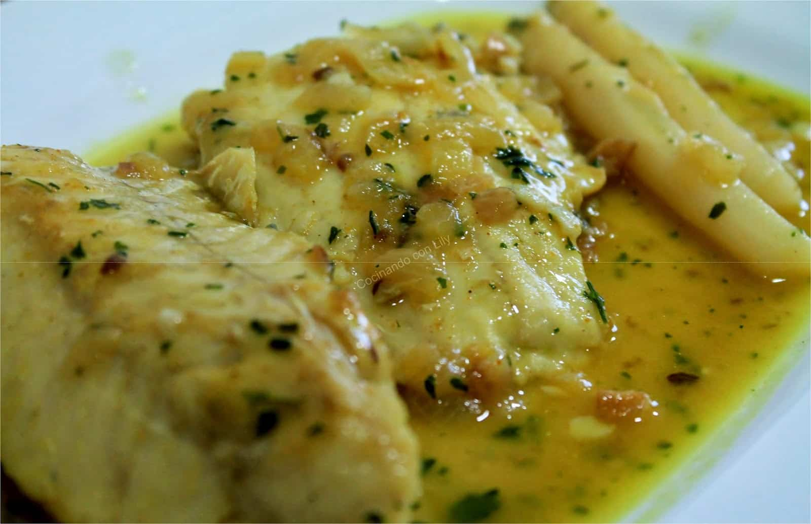 Receta de merluza al curry