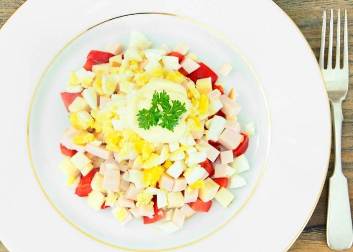 Receta de ensalada de pimientos y jamon