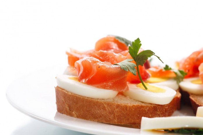 tosta de salmon