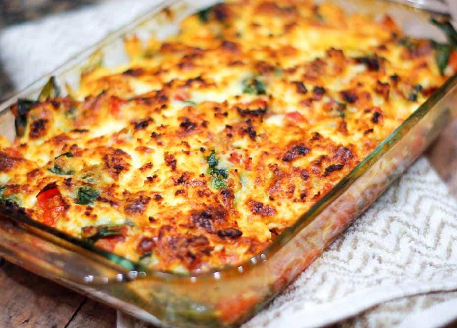 berenjenas con queso gratinado al horno