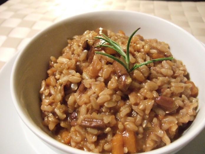 risotto de setas con foie