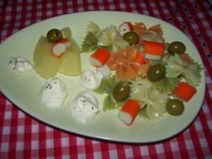 ensalada de pasta y pina