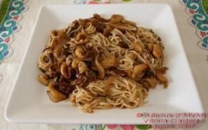 espaguetti con sepia