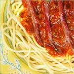 spaguettis con anchoas