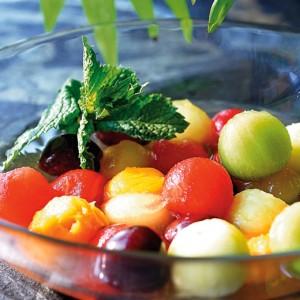 frutas a la menta