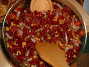 ensalada de alubias rojas