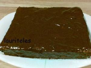 pastel de galleta con chocolate