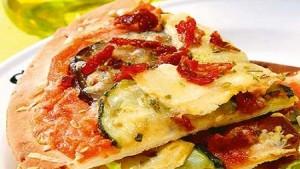 pizza de tofu y verdura