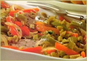 redondo con verduras