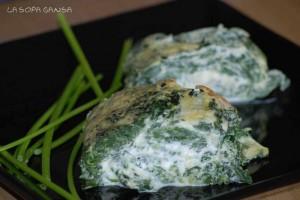 rollo de espinacas y queso