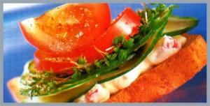 aperitivos de verduras y legumbres