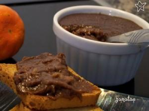 mermelada de platano y chocolate