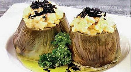 alcachofas con zanahoria y apio