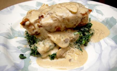 Pollo Con Champiñones y Crema Pollo a la Crema Con Chipotle