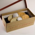 Zapatillas de pan en caja