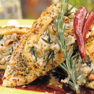 pollo en salsa de hierbas