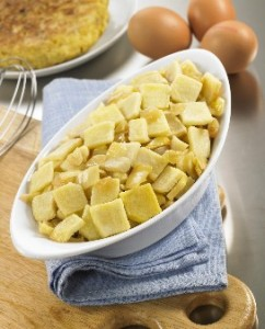 Patata y cebolla para tortilla