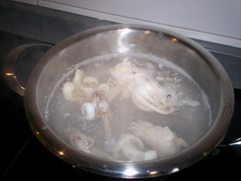 Hacer el caldo de pescado