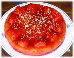 bizcocho de nata y fresa