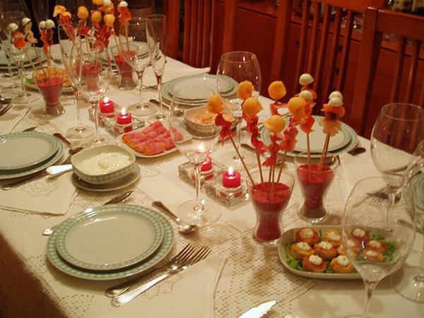 10 ideas de entrantes para la cena de nochebuena solo for Como decorar la mesa para navidad