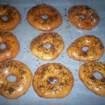 donuts caseros con fideos de chocolate