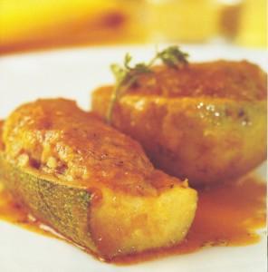 Calabacines y patatas rellenos