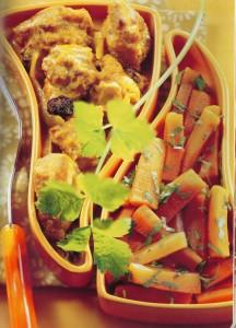 Curry de pollo con zanahorias