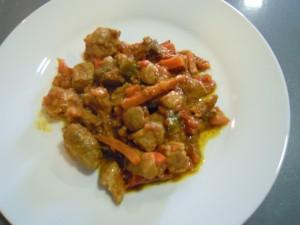 Magro al curry con verduras