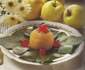 manzanas rellenas de carne