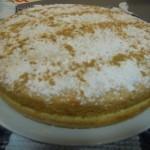 Tarta de crema pastelera y canela