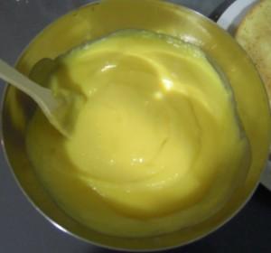 Textura de la crema pastelera