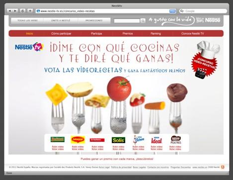 Premios primer concurso video-recetas Nestle