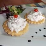 tartitas rellenas de ensaladas alemanas