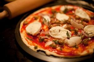 Pizza sin cocinar