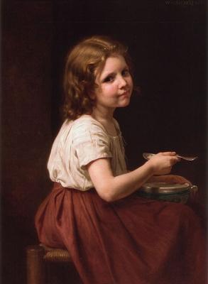 439px William Adolphe Bouguereau 1825 1905 Soup 1865
