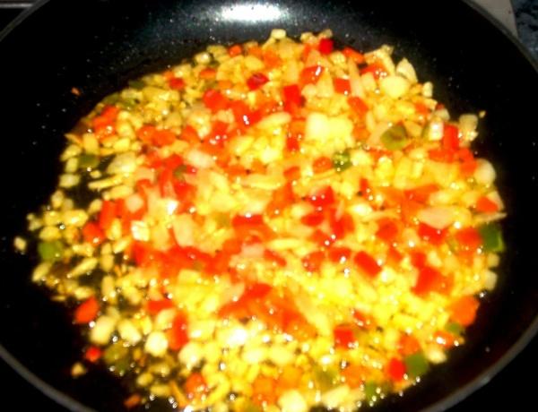 arroz con salsa de soya