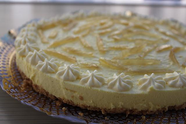 tarta fria jengibre confitado