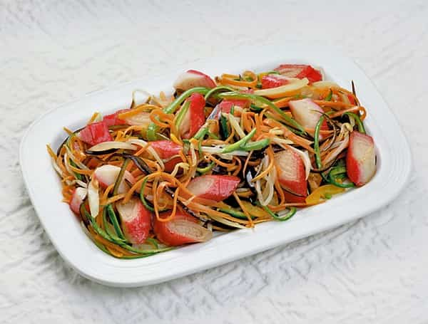 Ensalada de verduras salteadas
