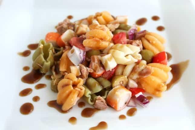 Receta de ensalada de pasta a la vinagreta