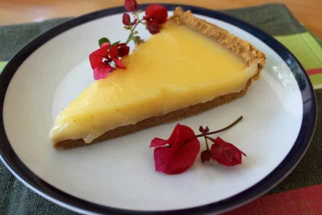 Receta de pie de lemon curd
