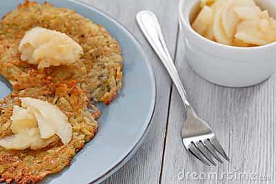 Receta de Tortillas de patata con compota de manzana