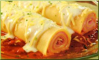 canelones de jamon y queso