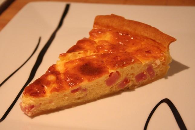 Receta tarta salada de jamón y queso
