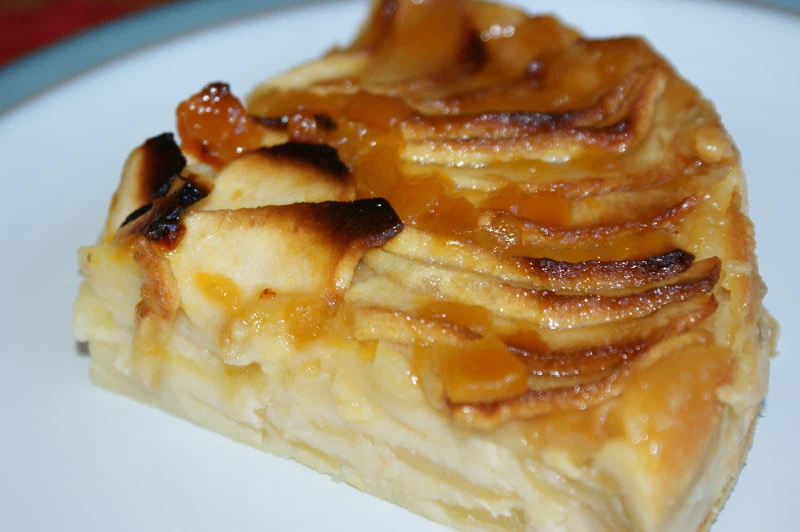 Receta de tarta de manzana y crema