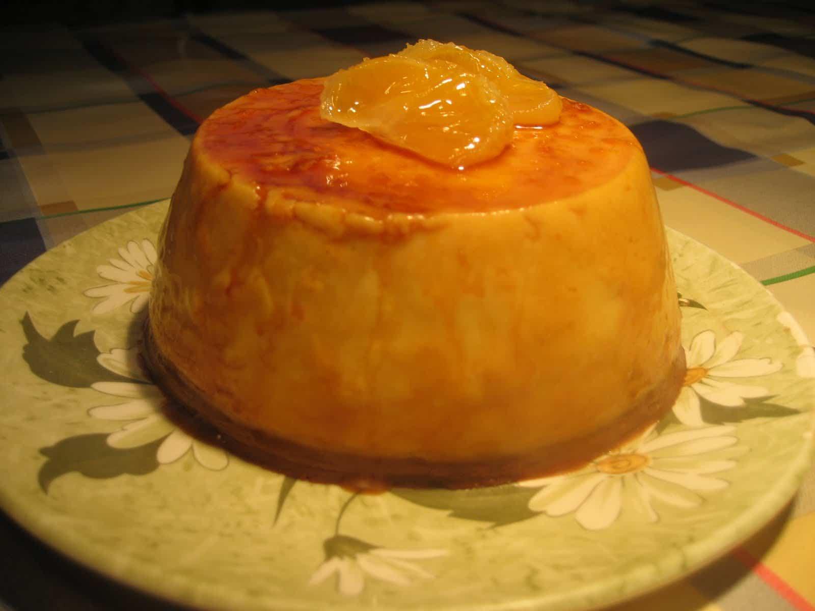 Receta de flan de queso y naranja