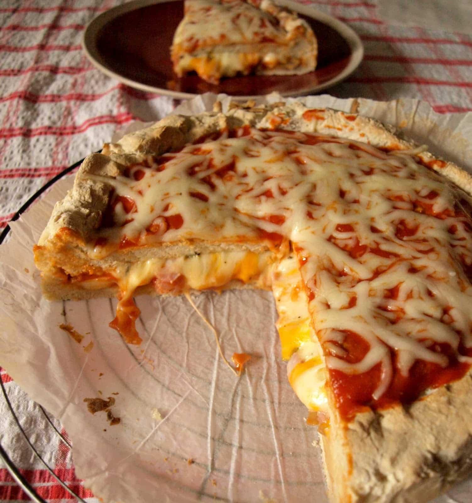 Receta de pizza rellena
