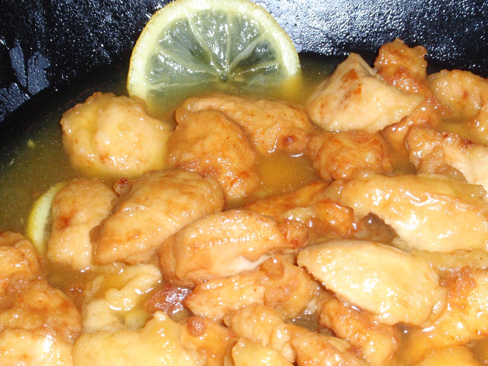 receta china de pollo al limon