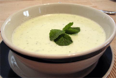 receta de sopa fría aguacate y pepino