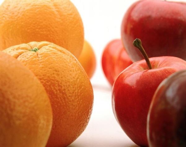 naranjas y manzanas